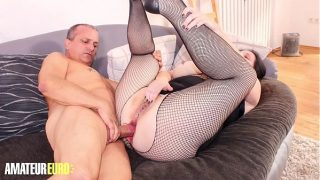 AMATEUR EURO – Slutty BBW Wife Takes Deep Anal From Her Husband