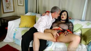 Busty BBW beauty is such a hot fuck and loves to eat cum