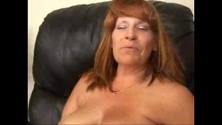 Leighann and Friend have fun on an Easy Chair